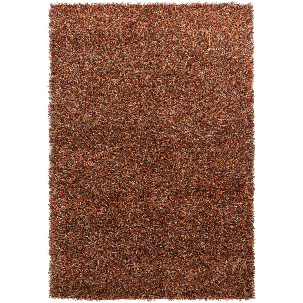 Chandra Astrid Red/Orange/Brown/Grey/Black 7 ft. 9 in. x 10 ft. 6 in. Indoor Area Rug