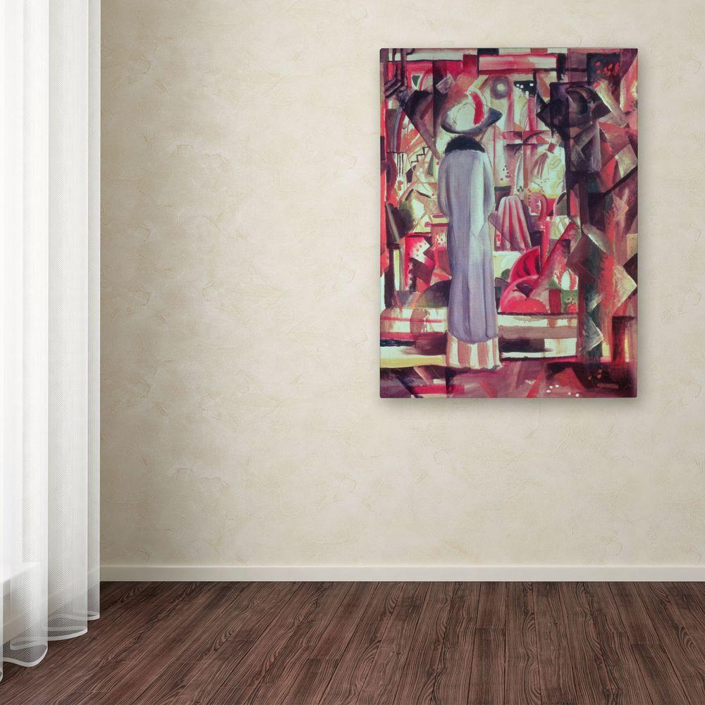 19 in. x 14 in. Woman in Front of a Window