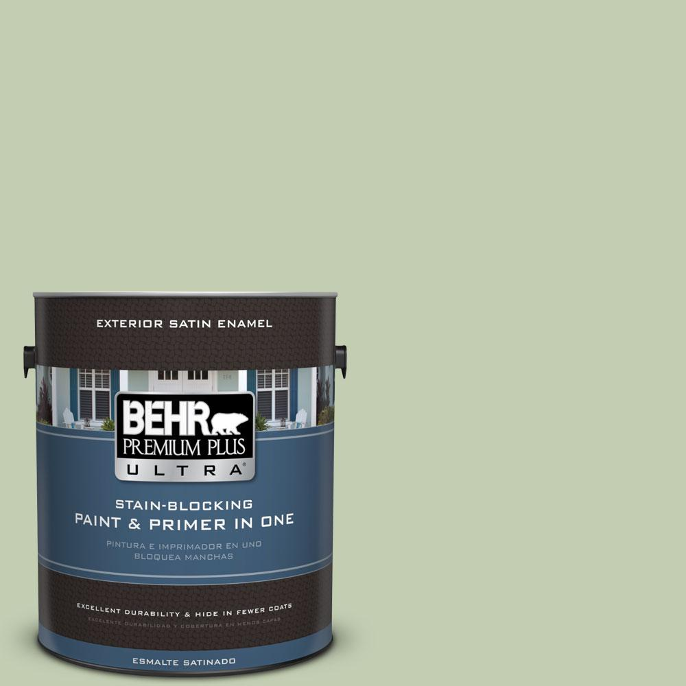 BEHR Premium Plus Ultra 1-gal. #M380-3 Growing Season Satin Enamel Exterior Paint