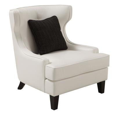 Skyline White Bonded Leather Accent Chair