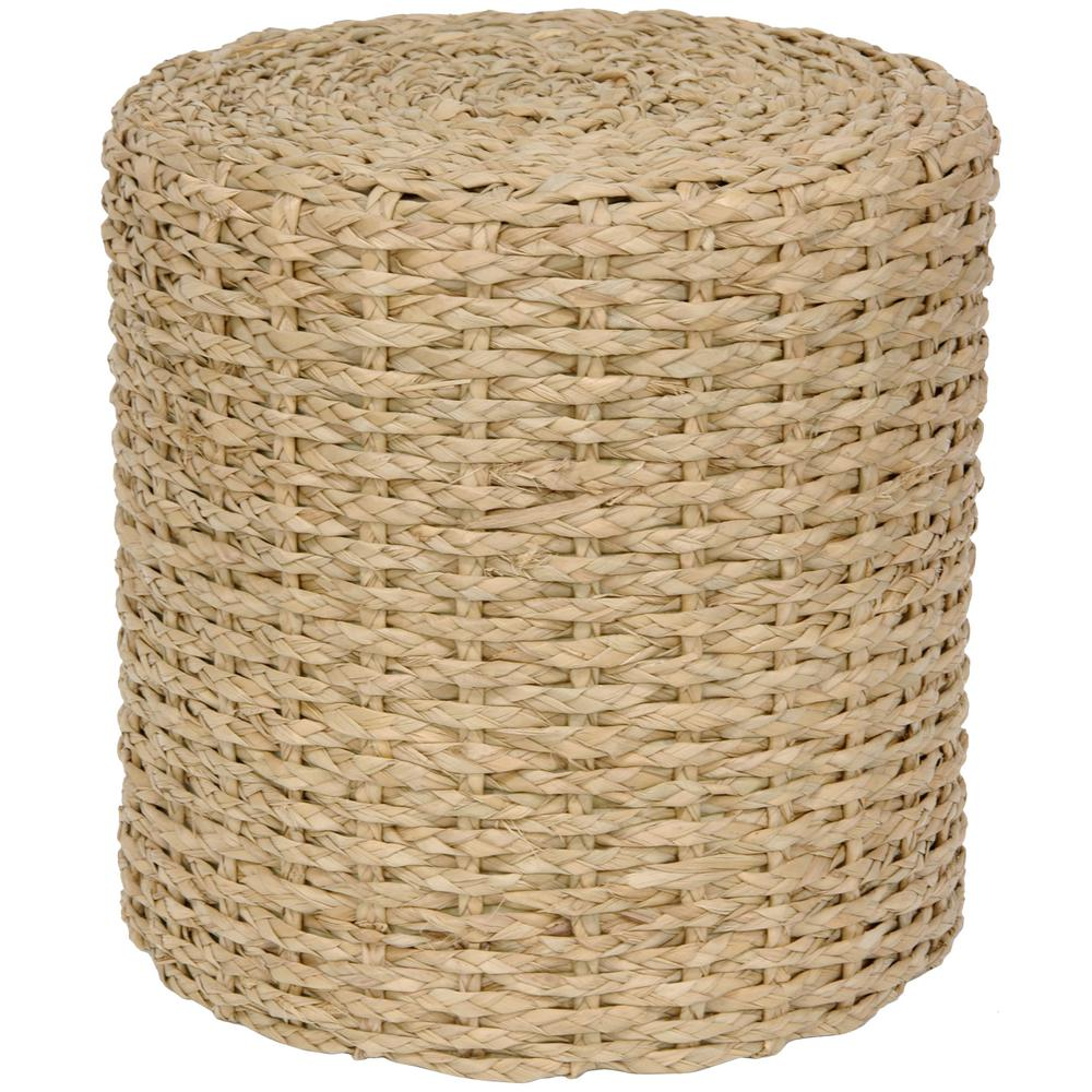 Natural Accent Ottoman Fb Stool2 Nat The Home Depot
