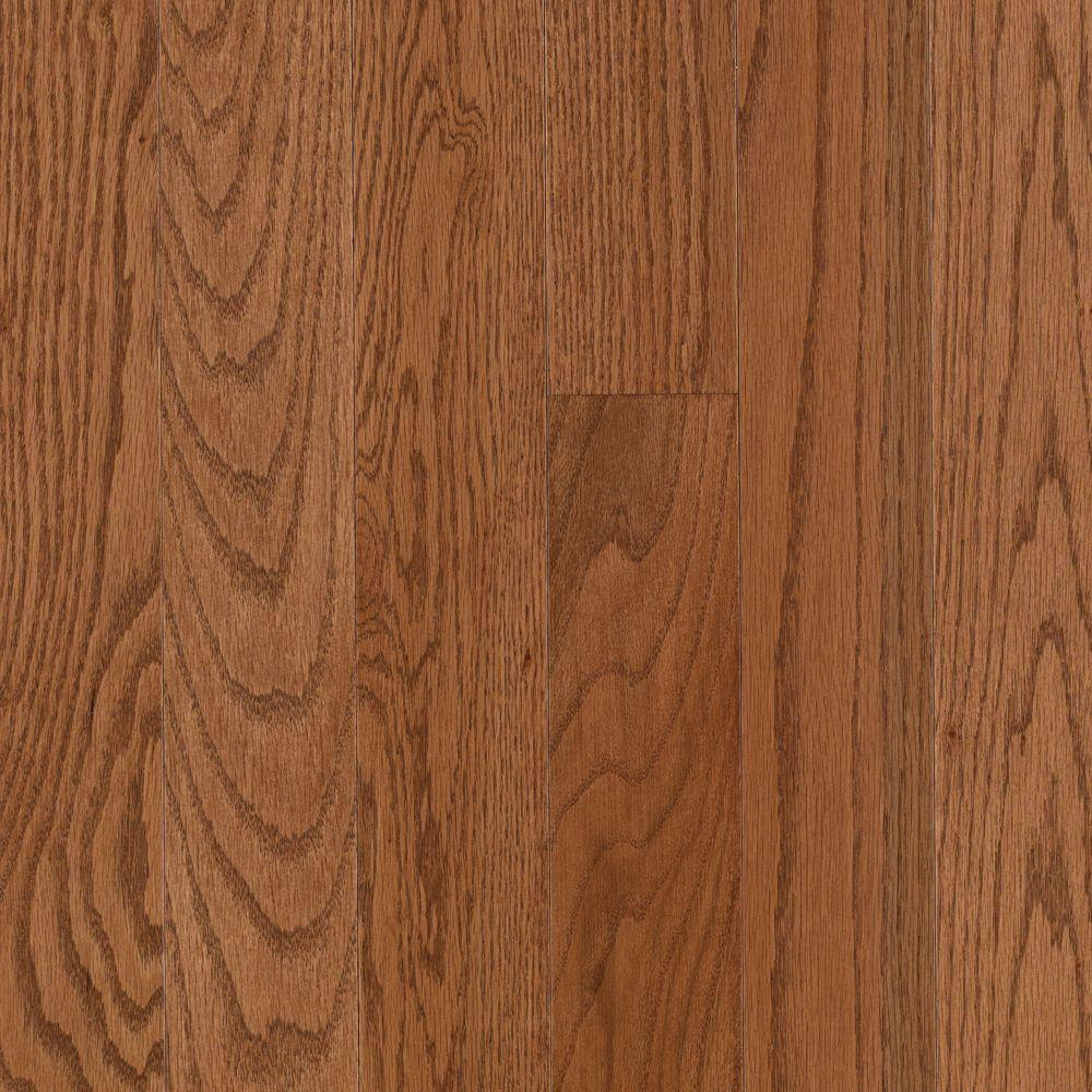 Mohawk raymore oak gunstock 3 4 in thick x 3 1 4 in wide for Mohawk hardwood flooring