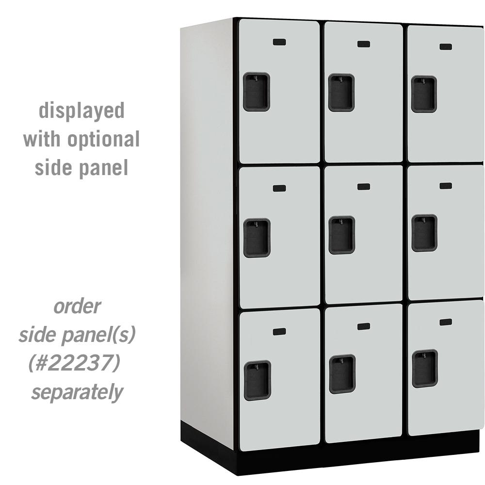 Salsbury Industries 23000 Series Triple Tier 24 in. D 9 Compartments ...