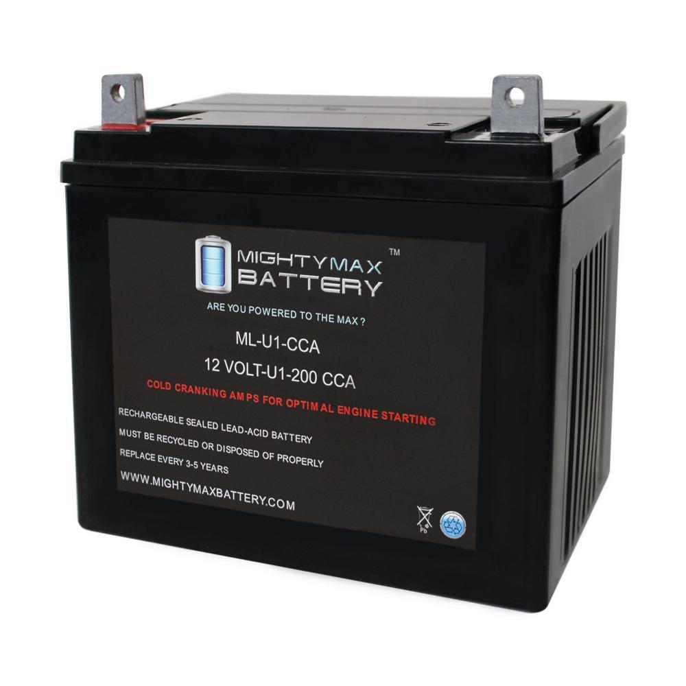 12-Volt 200 CCA Rechargeable NB Terminal Sealed Lead Acid (SLA) Battery