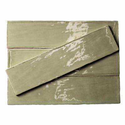 Catalina Kale 3 in. x 12 in. x 8 mm Ceramic Wall Subway Tile