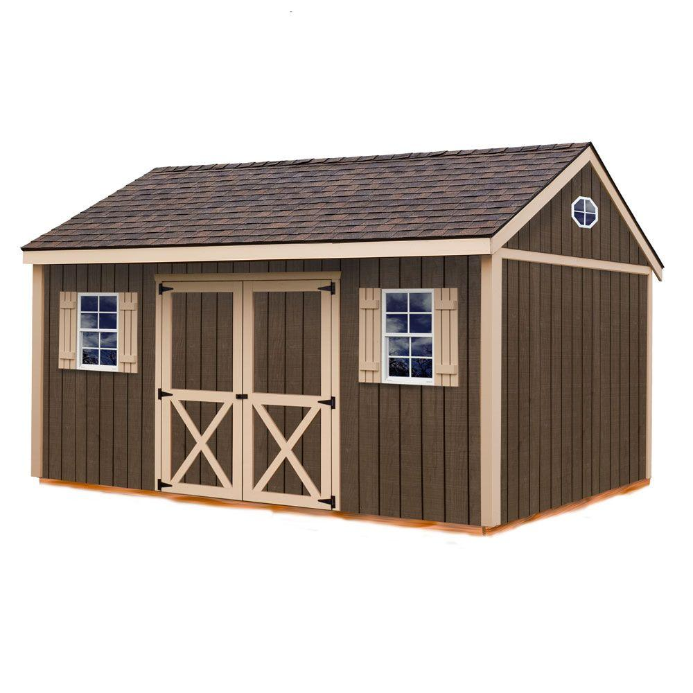 Best Barns Brookfield 16 ft. x 12 ft. Wood Storage Shed Kit with Floor