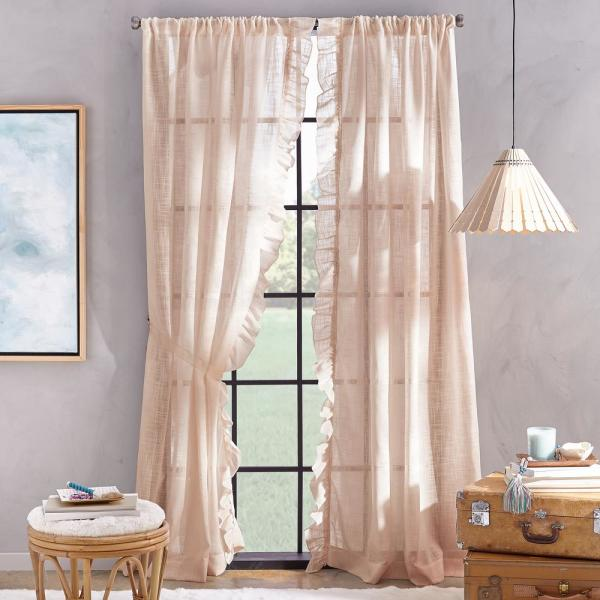 Arabella 50 in. W x 95 in. L Poletop Panel in Blush