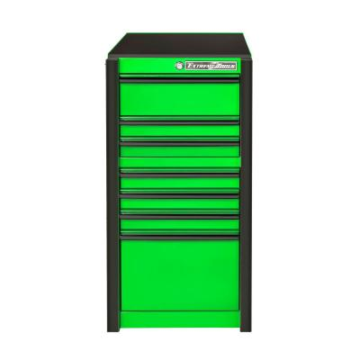 19 in. 7-Drawer Side Tool Chest in Green with Black Trim