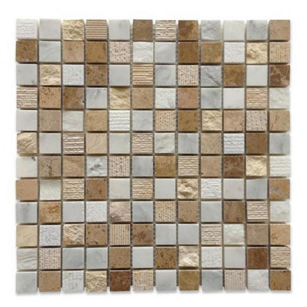 Exterior Tech Square Beige Brick Joint 12 in. x 12 in.