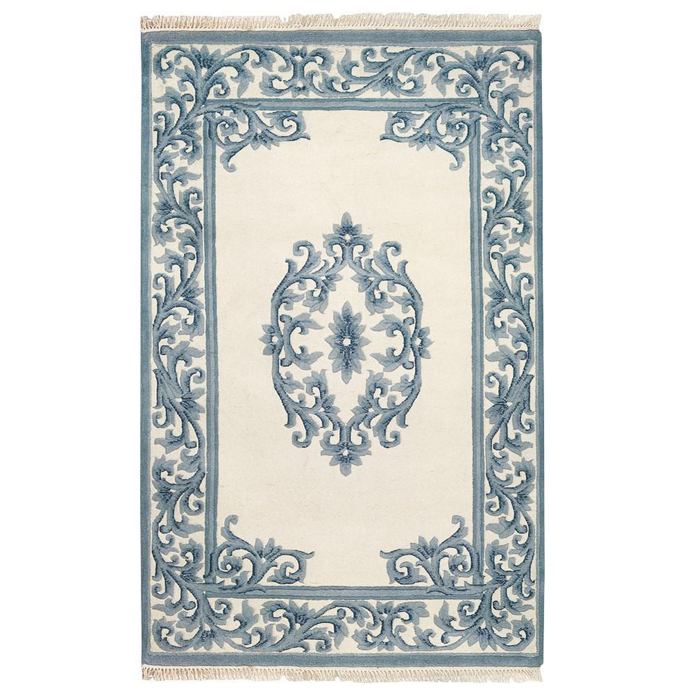 Filigree Aubusson Blue 7 ft. 6 in. x 9 ft. 6