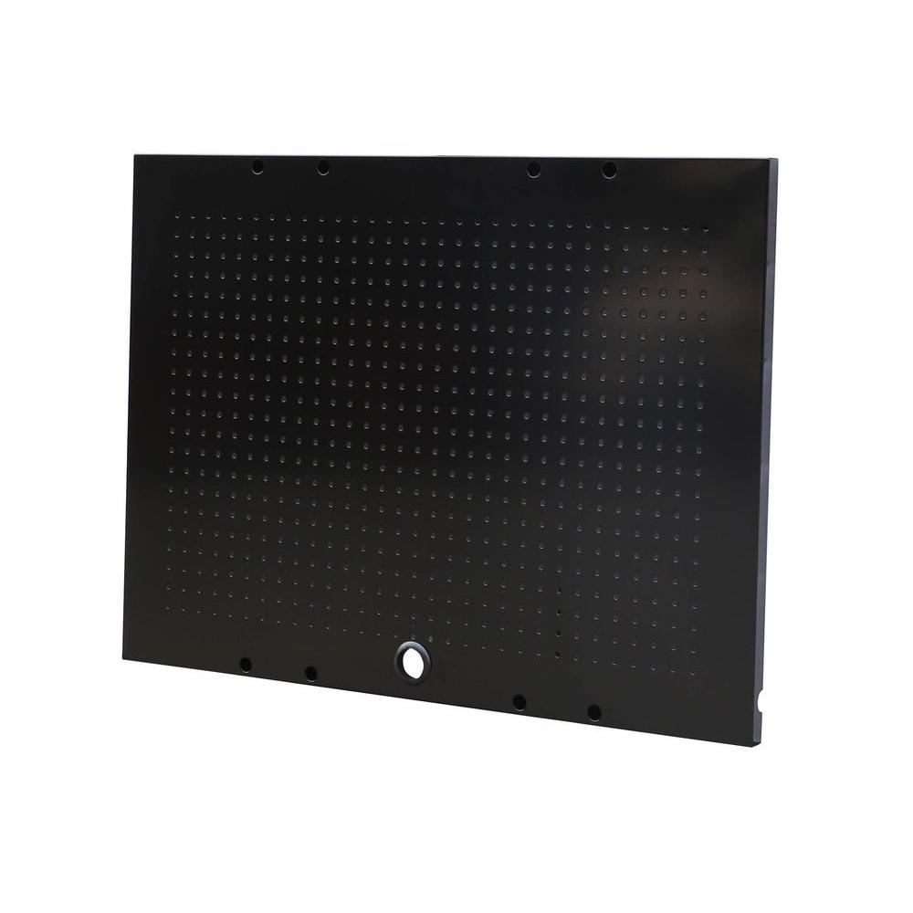 36 in. W x 26 in. H Black Steel Pegboard Set