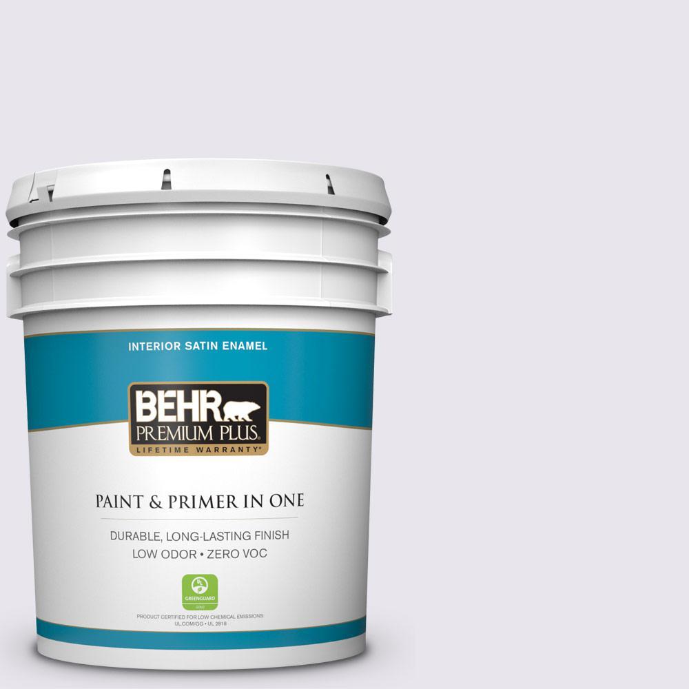 BEHR Premium Plus 5-gal. #650C-1 Pixie Wing Zero VOC Satin Enamel Interior Paint