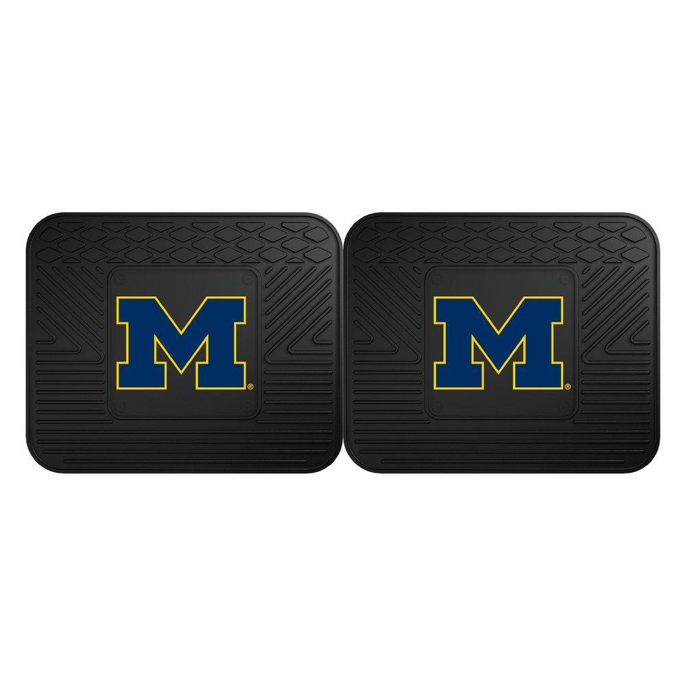 FANMATS NCAA University of Michigan Black Heavy Duty 2-Piece 14 inch x 17 inch... by FANMATS