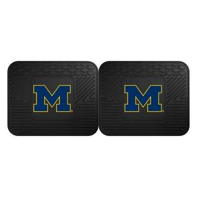 NCAA University of Michigan Black Heavy Duty 2-Piece 14 in. x 17 in. Vinyl Utility Mat