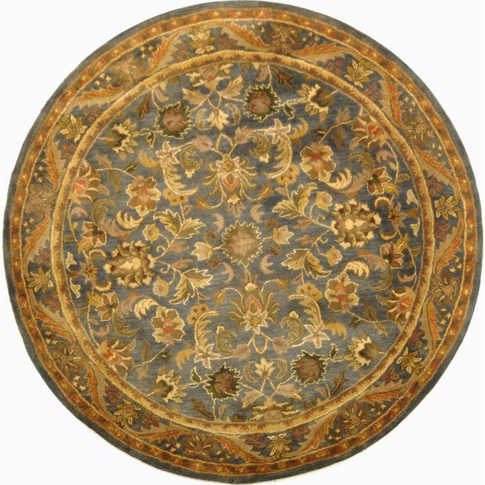 Safavieh Antiquity Blue Gold 6 Ft X 6 Ft Round Area Rug