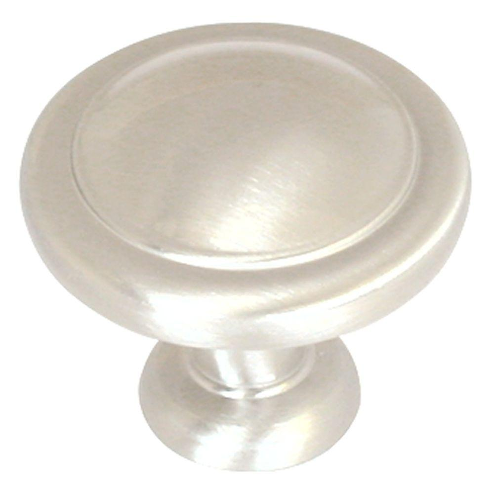 1-1/4 in. Satin Nickel Round Cabinet Knob