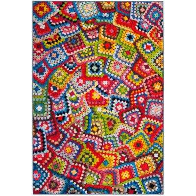 Aztec Green/Multi 5 ft. 1 in. x 7 ft. 6 in. Area Rug