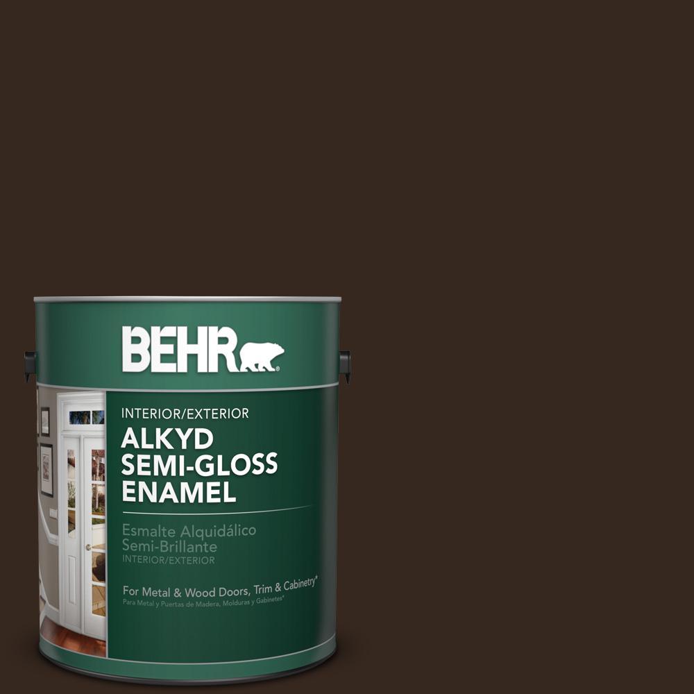 Sc 105 Padre Brown Semi Gloss Enamel Alkyd Interior Exterior Paint