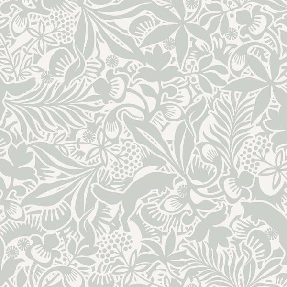 8 in. x 10 in. Lummig Mint Fox Wallpaper Sample WV1478SAM