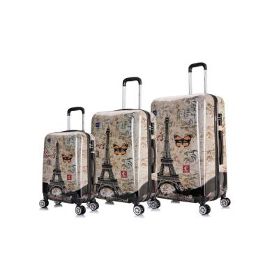 Prints Lightweight Hardside Spinner 3-Piece Set 20 in.,24 in.,28 in. Paris