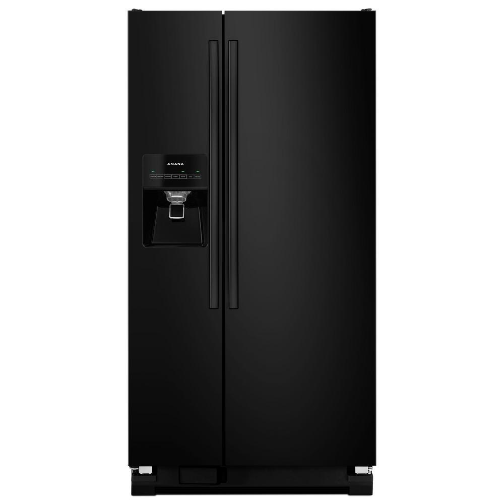 21.2 cu. ft. Side By Side Refrigerator in Black
