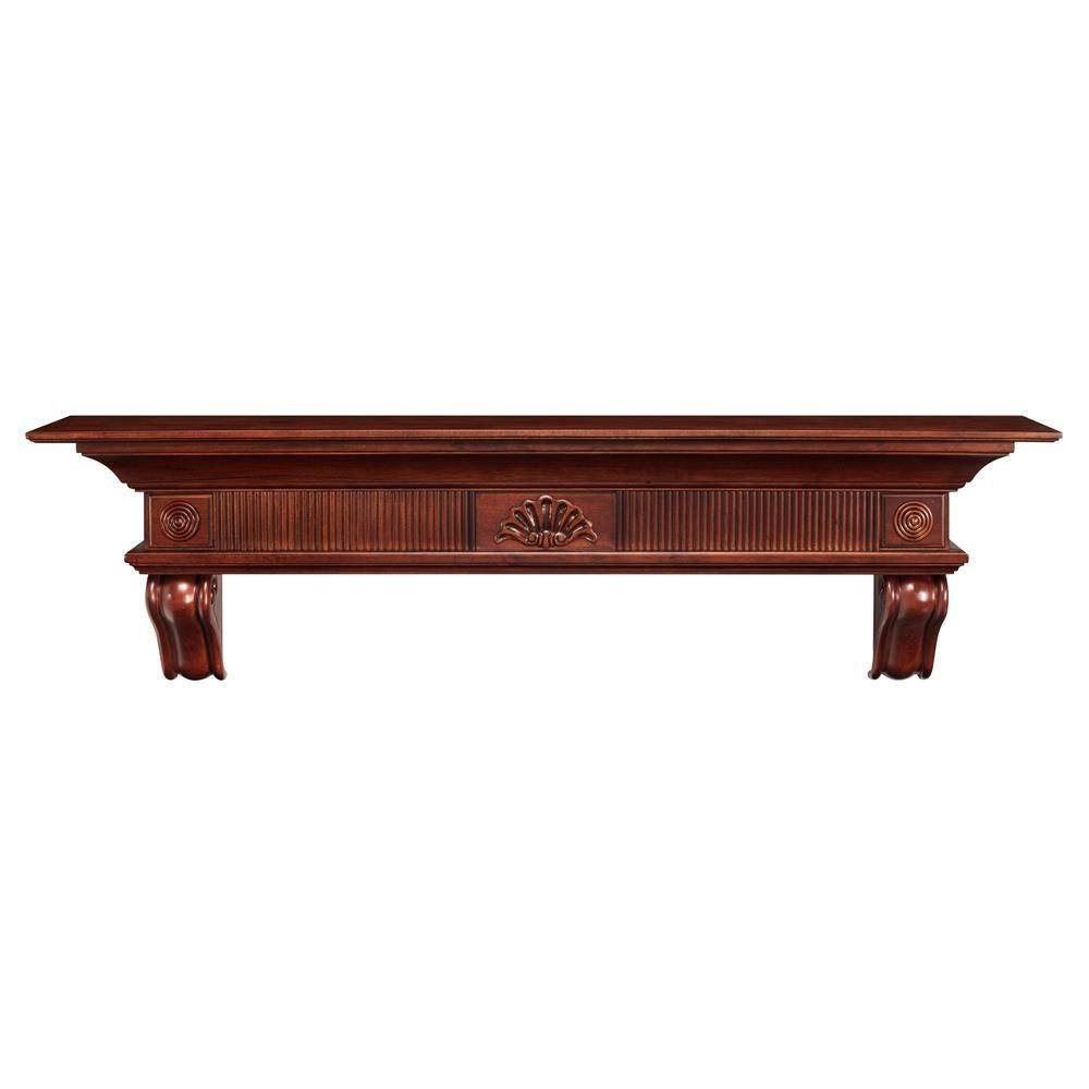 Pearl Mantels The Devonshire 5 ft. Cherry (Red) Distresse...