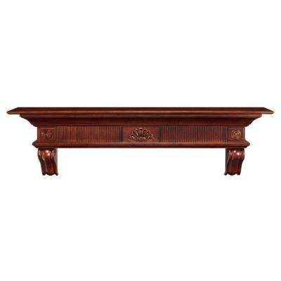 The Devonshire 5 ft. Cherry Distressed Cap-Shelf Mantel