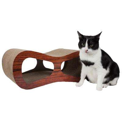 Wood Cat-Eyed Ultra Premium Contoured Lounger Designer Cat Scratcher