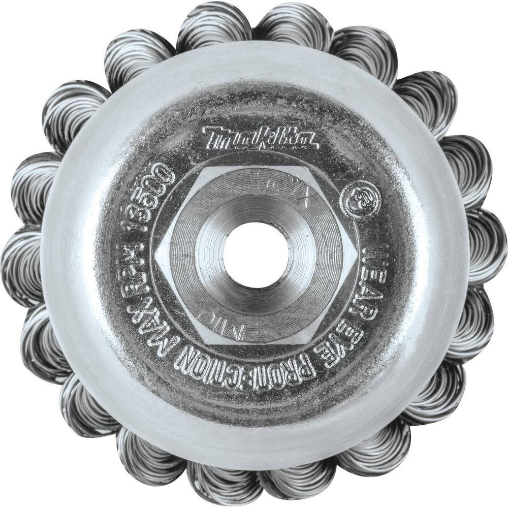 M10 x 1.25 Makita A-98653 4 Knot Twist Wire Wheel