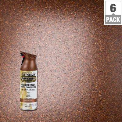 11 oz. All Surface Aged Metallic Rust Spray Paint and Primer in One (6-Pack)