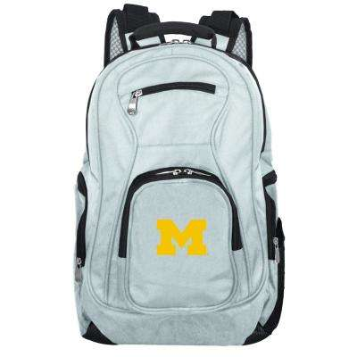 NCAA Michigan Wolverines 19 in. Gray Laptop Backpack