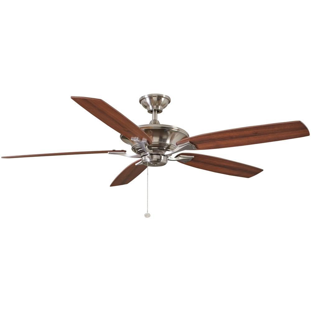 Hampton Bay Ashburton 60 In Indoor Brushed Nickel Ceiling Fan