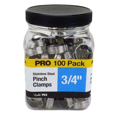 3/4 in. Stainless Steel PEX Barb Pinch Clamp Jar (100-Pack)