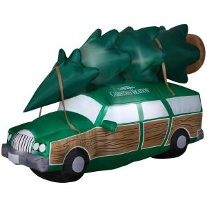 Model In Christmas Vacation.8 Ft Inflatable National Lampoons Christmas Vacation Station Wagon 114436 The Home Depot