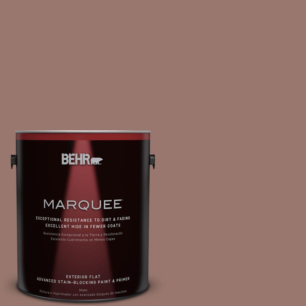 BEHR MARQUEE 1-gal. #N160-5 Chocolate Delight Flat Exterior Paint