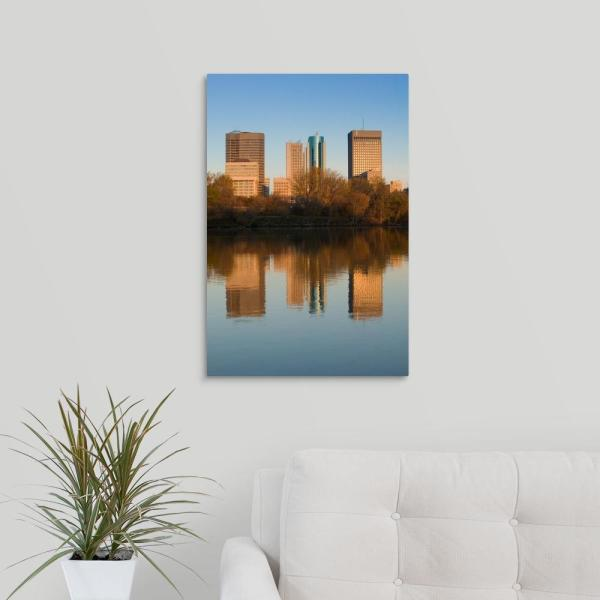 GreatBigCanvas ''Canada, Manitoba, Winnipeg, Downtown Buildings reflected in the