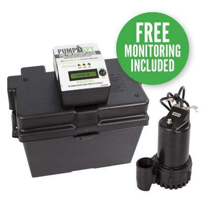 1/4 HP Submersible 12 VDC Battery Back-Up Sump Pump and Monitoring System