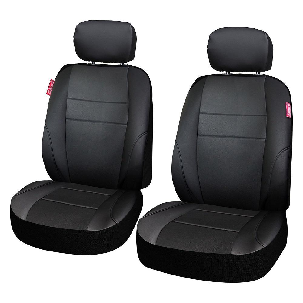 Adventure Class Poly Flat Cloth 26 in. L x 30.7 in. W x 22.4 in. H Seat Cover Set in Black