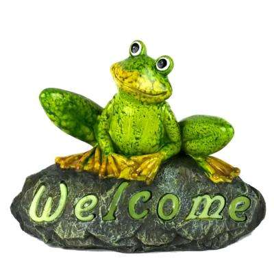 Hoppy the Frog Welcome Stone