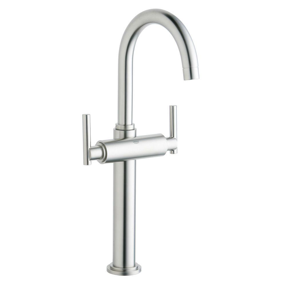 Nice GROHE Atrio Single Hole 2 Handle Vessel Bathroom Faucet In Brushed Nickel  InfinityFinish (Handles