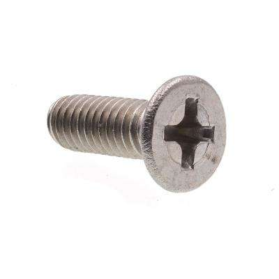 M4-0.7 x 12 mm Grade A2-70 Metric Stainless Steel Phillips Drive Flat Head Machine Screws (10-Pack)