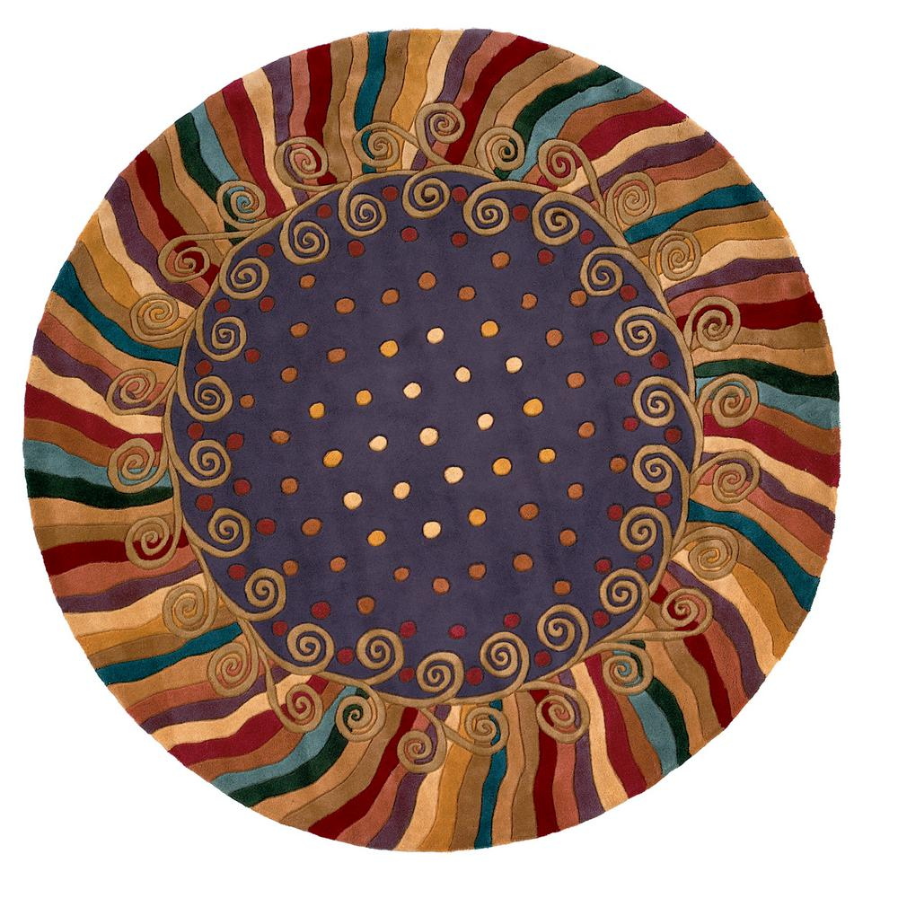 Contempo Amethyst 7 ft. 9 in. Round Area Rug