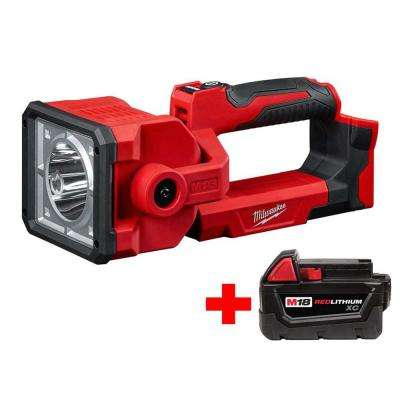 M18 18-Volt Lithium-Ion Cordless 1250-Lumen Search Light with Free M18 3.0Ah Battery