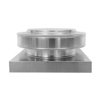 10 in. Dia. Aluminum Round Back Roof Vent with Curb Mount Flange in Mill Finish