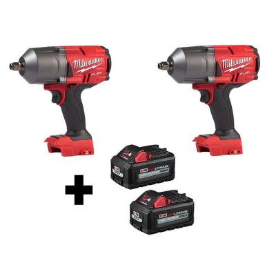 M18 FUEL 18-Volt 1/2 in. Lithium-Ion Brushless Cordless Impact Wrench w/ Friction Ring (2-Tool) w/ Two 6.0Ah Batteries