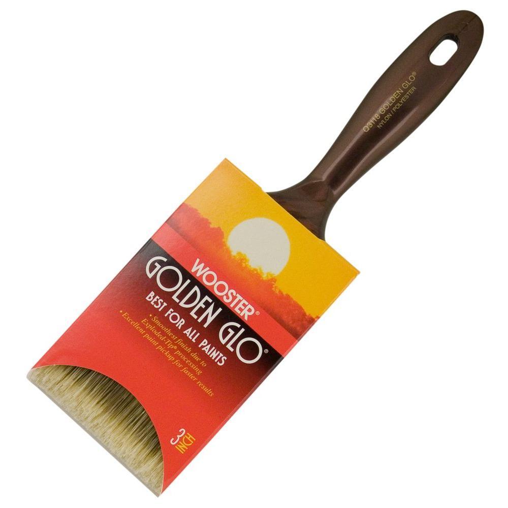 Golden Glo 3 in. Nylon/Polyester Flat Brush