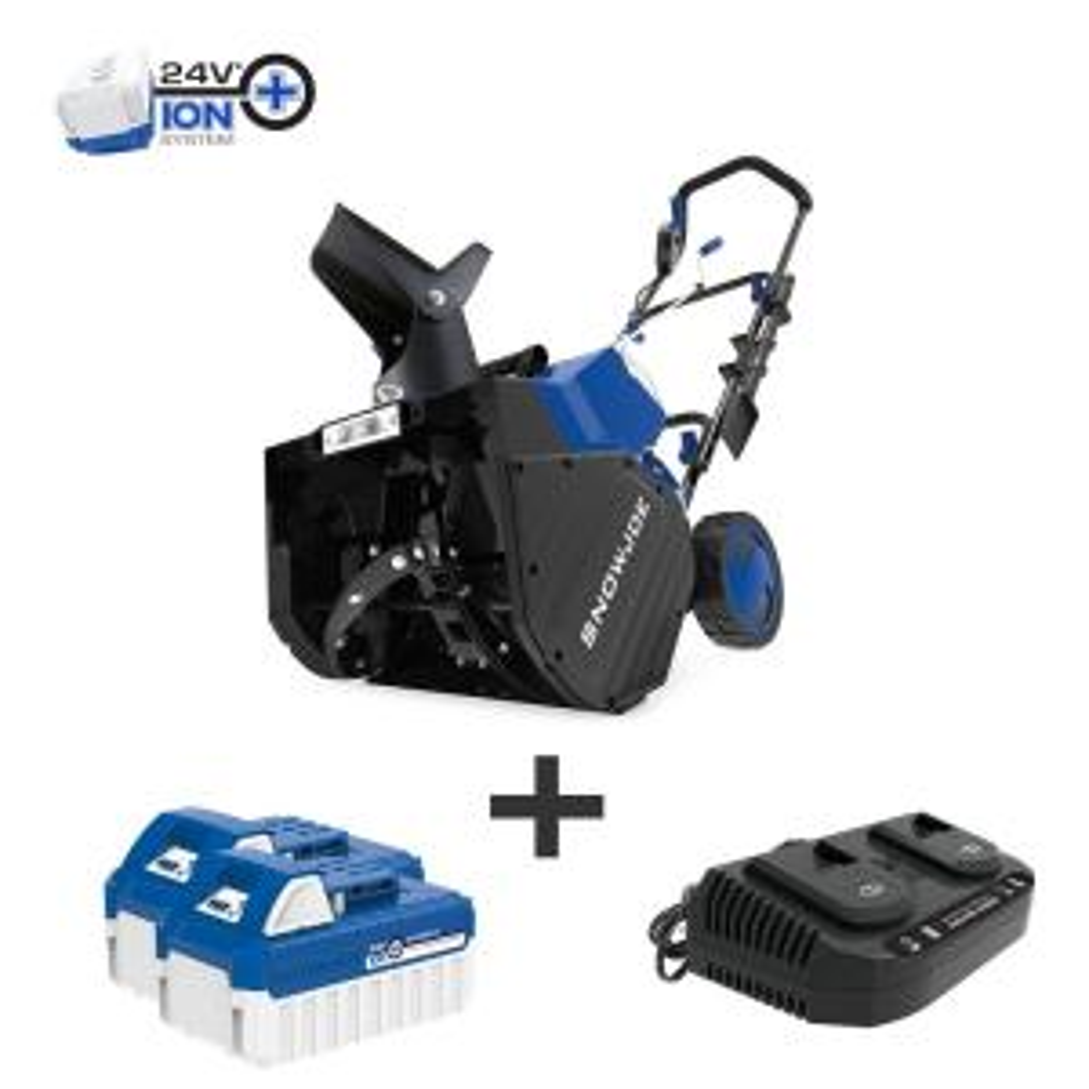 Snow Joe 18 in. 48-Volt Cordless Electric Snow Blower Kit Deals