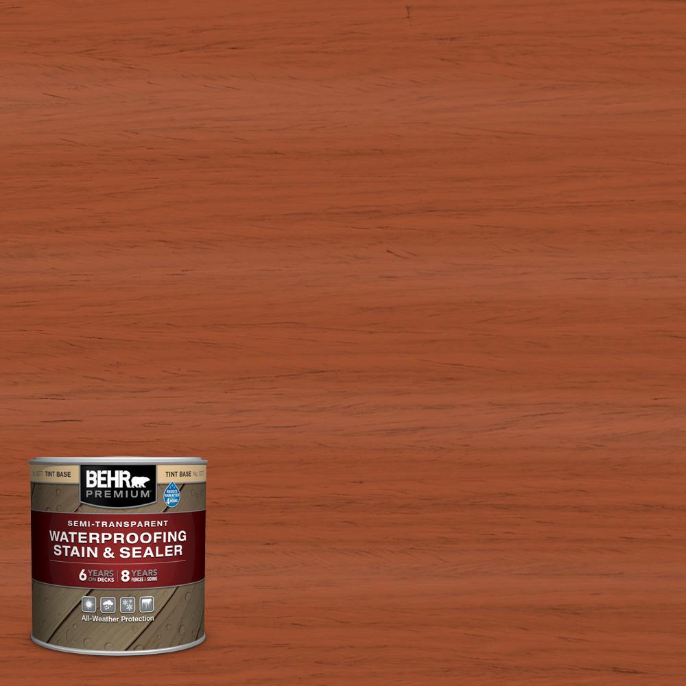 BEHR Premium 8 oz. #ST-136 Royal Hayden Semi-Transparent Waterproofing Exterior Wood Stain and Sealer Sample