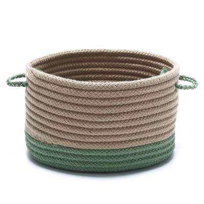 Harbor Moss Green Round Polypropylene Basket