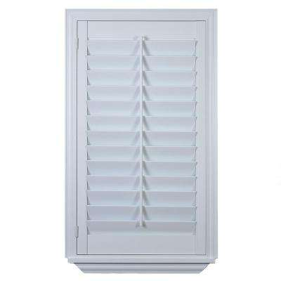 Interior Plantation Shutters Home Depot interior plantation shutters home depot interior plantation shutters home depot shutters for sliding glass decor Installed Hardwood Painted Shutter